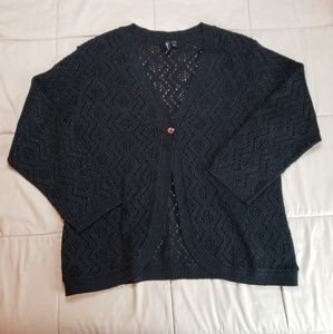 Jason Maxwell Glittery Cardigan Sweater